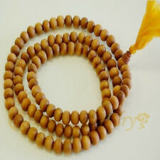 8mm Pure Fragrant Sandalwood Buddhist Mala 108 Prayer Beads Necklace bracelet