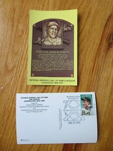 FERGIE JENKINS Induction HALL OF FAME Plaque July 21 1991 CANCELED Stamp CUBS