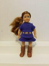 "American Girl Mini 6"" SAIGE COPELAND Doll, Original Dress & Boots"