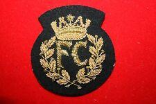 COPY RAF WW2 FERRY COMMAND FC EARLY PATTERN CAP BADGE BULLION WIRE