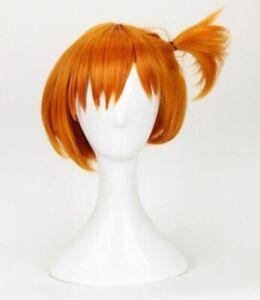 Women Wig Styled Short Orange Cosplay Wig Costume Wigs Cos Hair