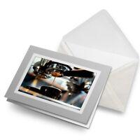 Greetings Card (Grey) - Espresso Coffee Shop Cafe Machine  #21504