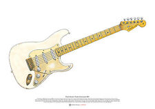 David Gilmour's Fender Stratocaster #0001 ART POSTER A2 size