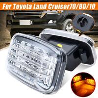 For Toyota Land Cruiser 70 80 100 Series 2X LED Side Marker Turn Signal Light