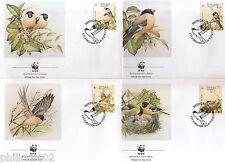 Portugal Azores 1990 WWF Bullfinch Birds Wildlife Animal Sc 385-88 Set of 4 FDC