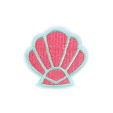 Pastel Pink Shell Iron On Patch Cute Tropical Little Mermaid Badge/Applique/Tran