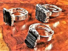 Black Tourmaline Ring Silver Gemstone Jewelry LR49 Healing Crystals And Stones