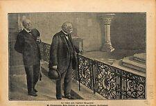 Président du Conseil George Clemenceau Eglise du Chesne Ruines 1919 ILLUSTRATION