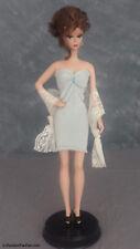 *Light Blue* Gown Silkstone Barbie Dress shoes wrap USA Seller Handmade #B102