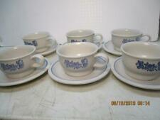 6 Flat Cup & Saucer Sets Yorktowne (USA) by PFALTZGRAFF