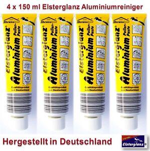4 x 150ml Elsterglanz Aluminium Polierpaste Reiniger Neu