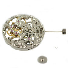 Analog Full Skeleton Silver Hand Winding 6497 movement fit vintage case 005