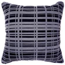 UL21a Black Light Gray Strip Velvet Style Cushion Cover/Pillow Case *Custom Size