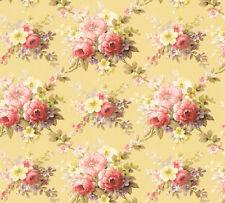 Vlies Tapete Blumen Bouquet gelb gold rot Floral glanz 34508-4 Chateau 5