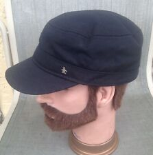 Men's Munsingwear Penguin Metal Logo Black Multi Panel Hat Size L/XL
