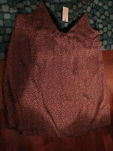 New M&S Ladies Strappy Nightdress Size 22 Pink mix