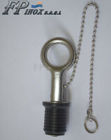 Bouchon de Nable inox à Anneau Chaine avec Joint Diamètre 22mm