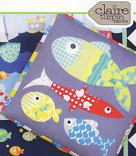 FISHY BUSINESS - Applique Sewing Craft PATTERN - Fish Bean Bag Floor Cushion