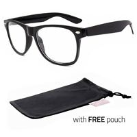 Mens Womens Clear Lens Nerd Retro  Geek Unisex Glasses Fashion Eyewear P
