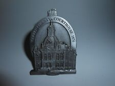 VTG 1997 PEWTER ORNAMENT/FIGURINE WARREN COUNTY PENNSYLVANIA COURTHOUSE 1876