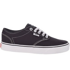 Vans Womens Atwood Low Rise Casual Canvas Trainers Sneakers Shoes - Black