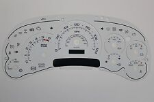 03-05 2500 SILVERADO WHITE ESCALADE TYPE GAUGE FACE OVERLAY ONLY FOR GM CLUSTER
