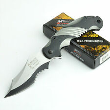 MTech Extreme Ballistic 440C Part Serrated Assisted Opening Knife MX-A801GY