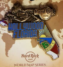 Hard Rock Hotel HOLLYWOOD FL 2017 3-D WORLD MAP Series PIN New with Card LE 200!