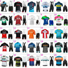 2020 Mens Team Cycling Jersey And Bib Shorts Kits Bicycle Tops Short Sleeve