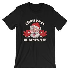 """Christmas In-Santa-Tee"" Black Tee T-Shirt"