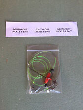 3x 8/0 tope/conger/huss wire rigs for boat/wreaking