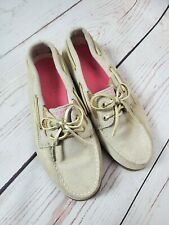 Sperry Girls Shoes Light Tan Leather Size Youth 4 Boat Top Sider Sparkle Kids