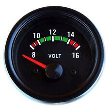 Voltmeter Zusatzinstrument universal Anzeige 52mm 12V Volt Spannungsanzeige NEU