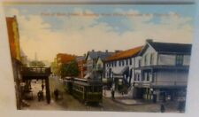 Old Mt. Pleasant PA Main Street West Penn Railway Trolley Junction Postcard Repo