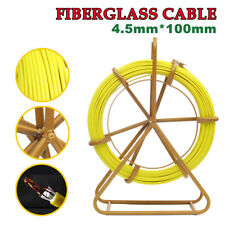Fish Tape Fiberglass Cable Puller Reel Wire Cable Running Rod Duct Rodder Fishta