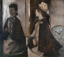 Mrs Jeantaud in the Mirror Edgar Degas Mode Spiegel Frauen Mantel B A3 01432