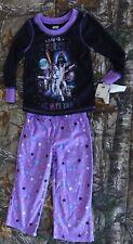 Star Wars black/purple long sleeve w pant Pajamas Outfit 2pc set,girl size 4
