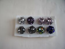 Job Lot of 8 New Multisize Ring Acrylic Jewel Flowers in various colours