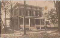 New York NY Real Photo RPPC Postcard 1915 BROADALBIN Baptist Parsonage