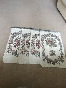 4 x Traditional Floral Pattern Chair/Sofa  Back  Trim Furniture Protector