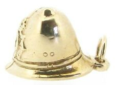 Gold charms 9Carat 9ct yellow London Policeman's helmets pendants solid 3D hats