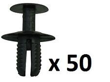 50 X Mercedes Plástico Remaches parachoques Clips Paneles Carenados Laterales Arch Forro Trim