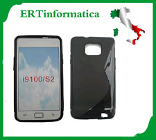 CUSTODIA MORBIDA TPU SAMSUNG GALAXY S2 SII I9100 BLACK NERO +++