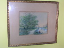 ORIGINAL RAPHAEL SENSEMAN  WATERCOLOR PAINTING