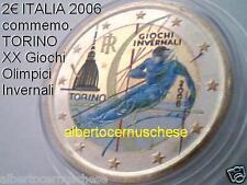 2 euro 2006 ITALIA color farbe kleur Torino Turin italie italien italy Italië