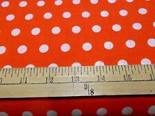 1 yard Little Dot Orange Fabric