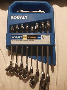 New Kobalt 8-piece flex box end ratcheting combonation wrench set