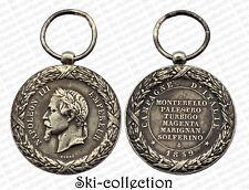 Médaille de la Campagne d'Italie 1859. Napoléon III°. Argent
