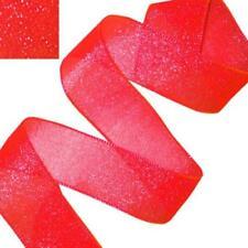 Nastri in tessuto rosso per confezionamento regali
