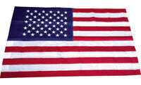 3x5 Embroidered USA American Pole Sleeve Nylon Flag 3'x5' (Made in USA) Banners